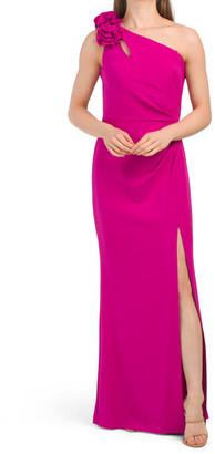 One Shoulder Ruched Waist Dress