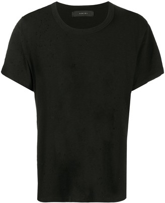Amiri Ripped-Detailed Cotton T-Shirt