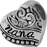 Nana FINE JEWELRY Forever Moments Oxidized Heart Charm Bracelet Bead
