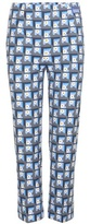 Prada Printed Stretch-cotton Cropped Trousers