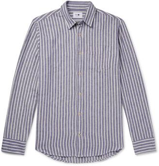 NN07 Striped Cotton-Flannel Shirt - Men - Blue