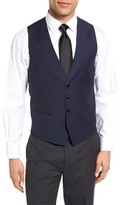 HUGO Men's Boss Trim Fit Solid Wool Vest