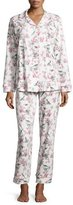 BedHead Toile Bird-Print Classic Pajama Set, Light Blue