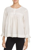 Current/Elliott The Eyelet Peasant Top