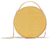 Eddie Borgo Chet Minaudière Leather-trimmed Moire Clutch - Yellow