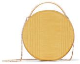 Eddie Borgo Chet Minaudière Leather-trimmed Moire Clutch