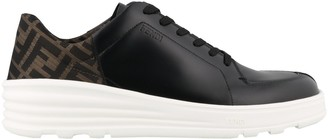 Fendi FF Motif Lace Up Sneakers