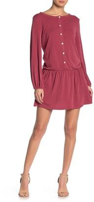 Luna Chix Button Front Low Waist Knit Dress