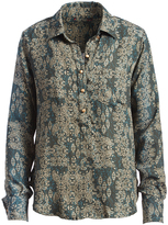 Mimichica Olive Arabesque Button-Up