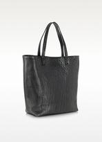 Jil Sander Palamone Black Embossed Leather Tote