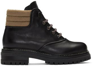 Max Mara Black Harlow Hiking Boots