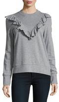 Vero Moda Ruffle-Accented Sweatshirt