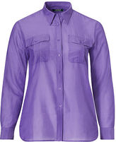 Ralph Lauren Woman Cotton-Silk-Voile Shirt