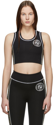 Fendi Black Forever Sports Bra