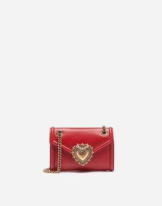 Dolce & Gabbana Mini Devotion Bag In Smooth Calfskin