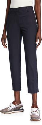 Brunello Cucinelli Monili Seamed Tropical Wool Trousers