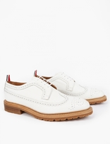 Thom Browne White Longwing Leather Brogues