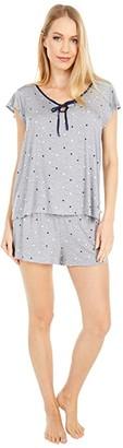 Kate Spade Modal Spandex Jersey Short Pajama Set (Grey Dot Space) Women's Pajama Sets