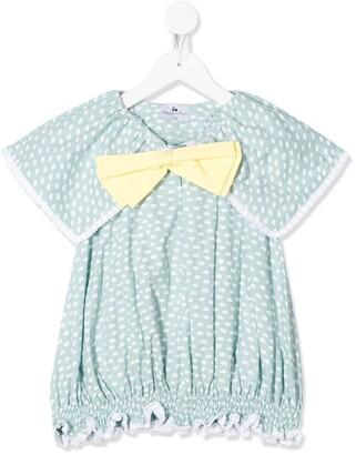 Raspberry Plum Chikita bow-tie blouse