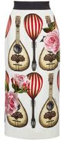 Dolce & Gabbana Mandolin Print Pencil Skirt