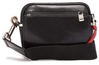 Givenchy Small Mc3 Logo-applique Leather Cross-body Bag - Mens - White Black