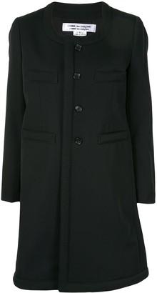 Comme des Garçons Comme des Garçons Collarless Single-Breasted Coat