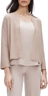 Eileen Fisher Textured Silk & Organic Cotton Cardigan
