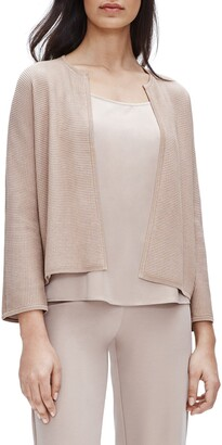 Eileen Fisher Textured Silk & Organic Cotton Cardigan