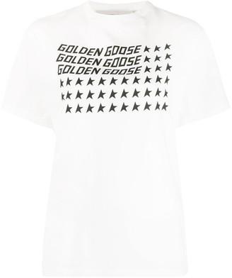 Golden Goose logo star print T-shirt