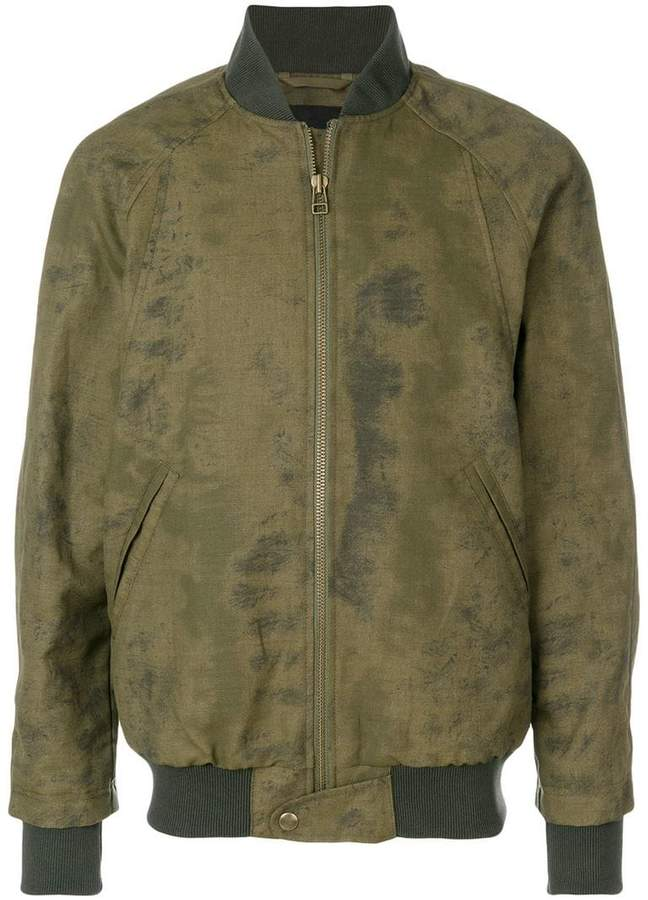 Mr & Mrs Italy antique effect bomber jacket