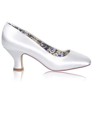 Perfect Mable Satin Low Heel Court Shoe