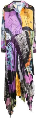 Marques Almeida Colour-Block Flared Dress