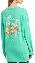 Lauren James Puppies Screen Print Graphic Long-Sleeve Tee