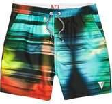 River Island Boys Blue colour blur swim shorts