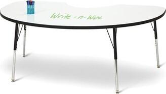 "Jonti-Craft Berries Dry Erase Adjustable Height Kidney Activity Table Size: 24"" - 31"""