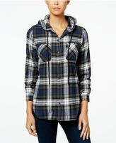 Polly & Esther Juniors' Plaid Flannel Hoodie