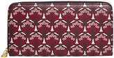 Liberty of London Designs Iphis Large Zip Wallet - Oxblood
