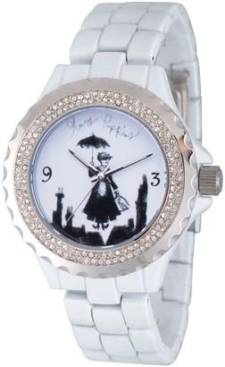 Disney Mary Poppins Women's White Enamel Watch