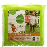 Seventh Generation B07101 Baby Free And Clear Diapers Stage 4: 22-37 Lbs -4x27ct