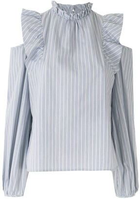 Eva Long Sleeves Blouse With Cut-Outs