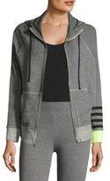 Sundry Heathered Zip-Front Sweatshirt