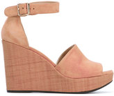 Stuart Weitzman wedge sandals - women - Leather/Suede/rubber - 35
