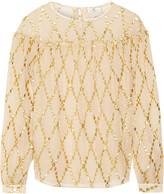 DAY Birger et Mikkelsen Lustre polka-dot silk-blend crepe blouse