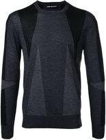 Neil Barrett geometric intarsia jumper