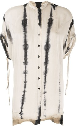 Masnada Asymmetric Hem Silk Blouse