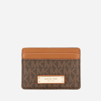 MICHAEL Michael Kors Women's Jet Set Card Holder - Brown