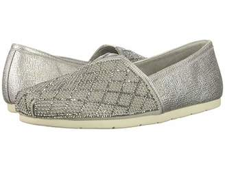 Skechers Bobs From BOBS from Luxe Bobs (Silver) Women's Slip on Shoes