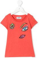Moschino Kids - metallic embroidered T-shirt - kids - Cotton/Spandex/Elastane - 4 yrs