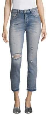 Amo Babe High-Rise Distressed Ankle Jeans