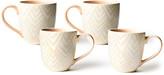 N. Coton Colors Layered Diamond Mugs, Set of 4